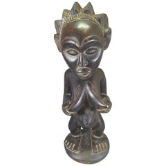 Tribal Arts Luba Fertility Figure/Statue of a Pregnant Woman