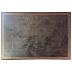 19th Century Japanese Folding Screen