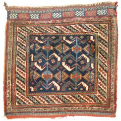 Antique Persian Afshar Bagface Rug