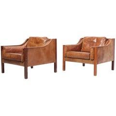 Pair of Danish Pristine Lounge Chairs