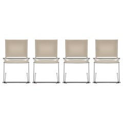 "Set of 4 White ""Ballerina"" Chairs by Herbert Ohl for Matteo Grassi"