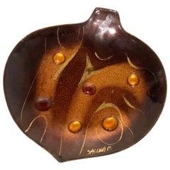 Freeform Enamel on Copper Decorative Abstract Plate by Sascha Brastoff