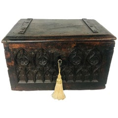 17th Century Medieval Gothic, Period French Valuables Box