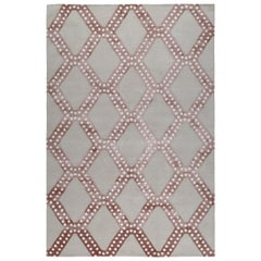 South Ridge Pink Hand-Knotted 10x8 Rug in Wool & Silk by Martyn Lawrence Bullard