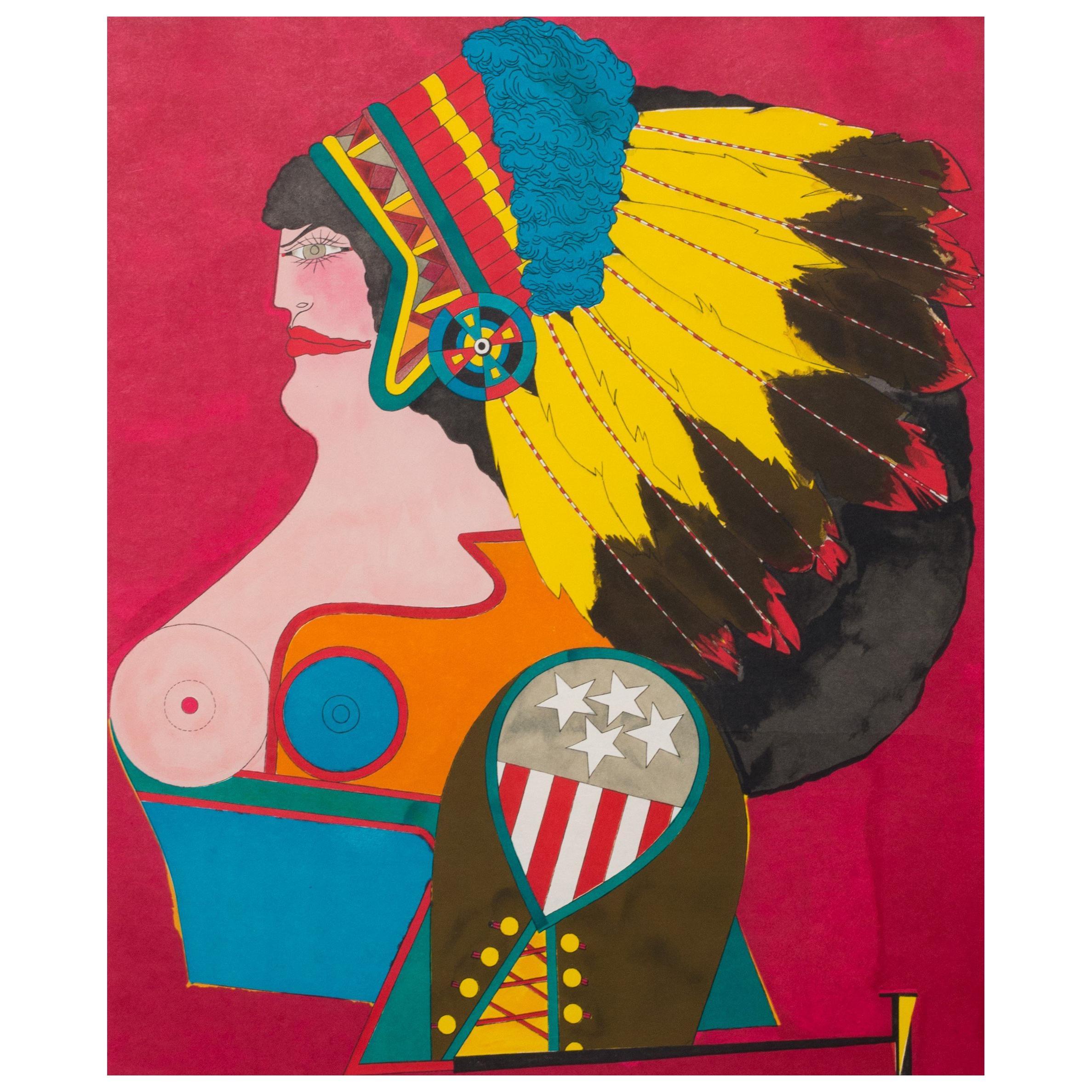 Richard Lindner 'Miss American Indian', 1970