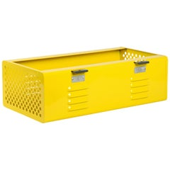 Double Wide Locker Basket in Mellow Yellow