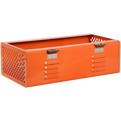 Double Wide Locker Basket in Tangerine, Custom Made to Order