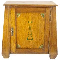 Antique Deco Smokers Cabinet, Antique Art Nouveau Cabinet, Scotland 1900