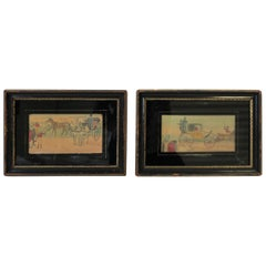 Antique Black and Gold Frames with Artwork