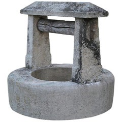 Chateau Wishing-Well in Limestone from France, Late 18th Century