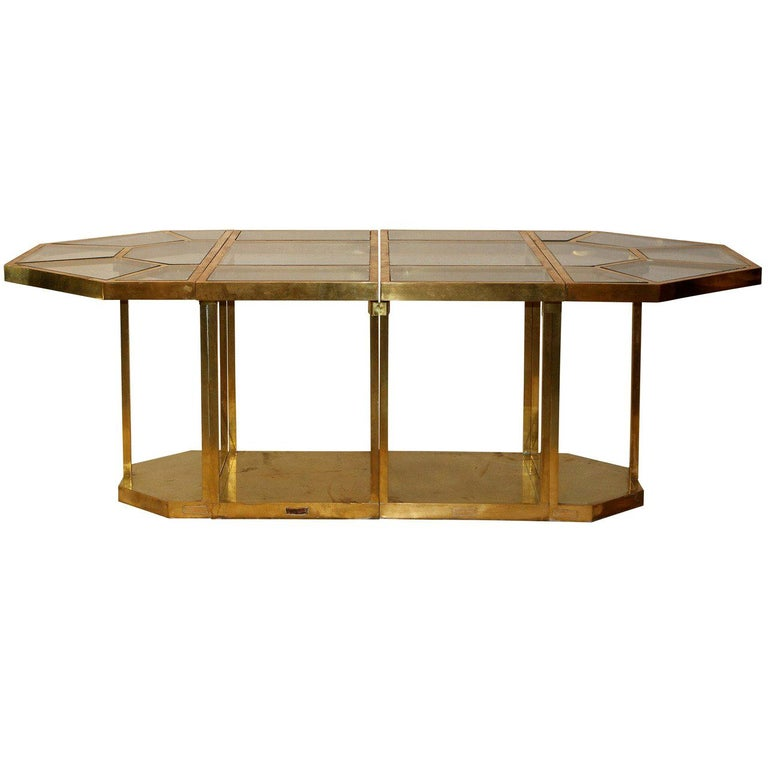 Gabriella Crespi Puzzle Table, Impressed with Facsimile Signature For Sale