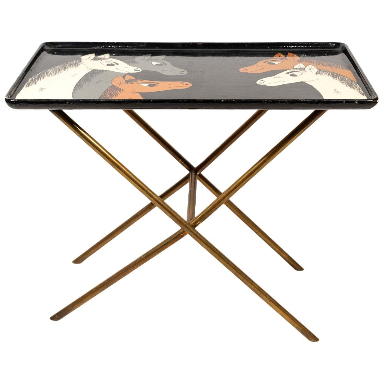Gabriella Crespi, Tray Table, Signed, circa 1970