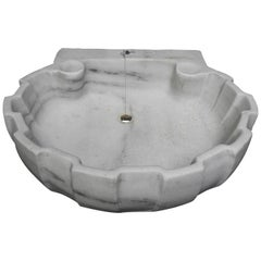 Antique 19th Century White Marble Sink