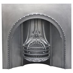 Large Restored Mid-Victorian Scottish Cast Iron Fireplace Grate