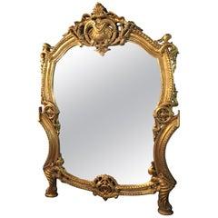 20th Century Rococo Wall-Mirror