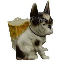Art Deco Porcelain Bulldog Planter, Germany