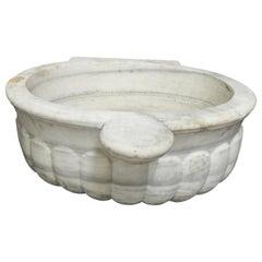 Antique 19th Century White Marble Sink