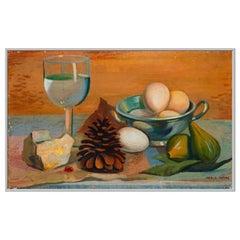 "1937 Mario Tozzi ""La Pigna"" Oil on Canvas Painting"