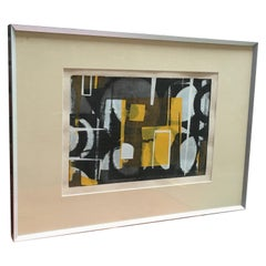 "1970 ""Inner Space"" Abstract Serigraph"