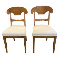Elegant Pair of Antique Biedermeier Side Chairs