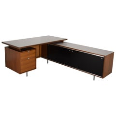 Premier George Nelson Floating Desk with Return