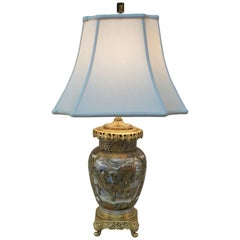 19th Century Gilt Bronze and Japanese Satsuma Porcelain Table Lamp
