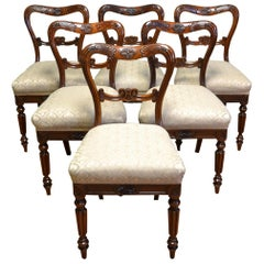 Set of Six Gillows Rosewood Antique William IV Dining Chairs