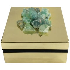 Fluorite and Brass Jewelry Deco Box