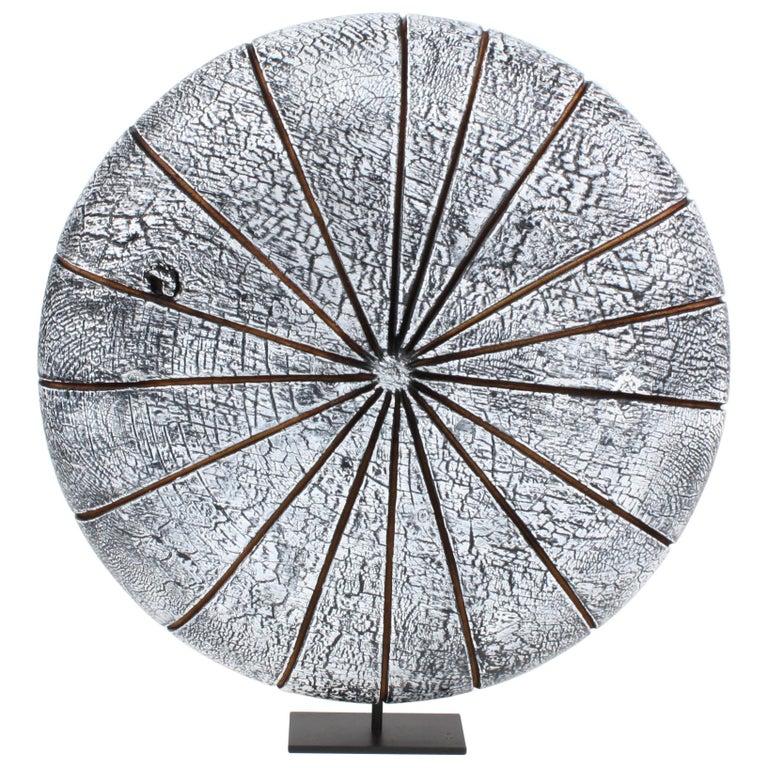 Contemporary Wood Sculpture, Parasélène Blanc For Sale
