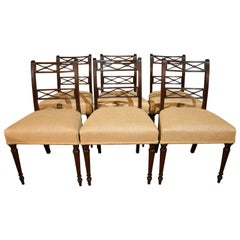 Excellent Set of Six George III Mahogany Chairs