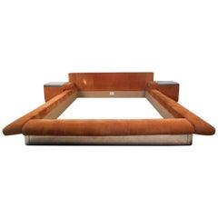 Contemporary Modern Roche Bobois Queen Size Bed Frame