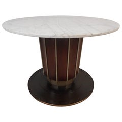 Impressive Vintage Italian Marble-Top Dining Table