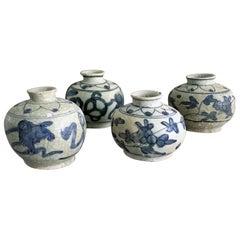 "Chinese Ming ""Wanli Shipwreck"" Blue and White Jars"