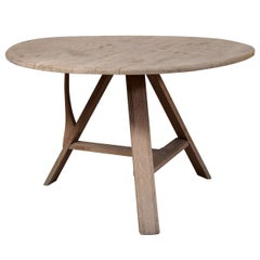 Tilt-Top Scrubbed Oak Table