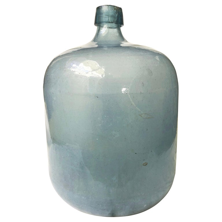 Early 20th Century Mexican Tequila Glass Carboy For Sale
