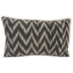 Vintage Ikat Woven Blue and Grey Decorative Lumbar Pillows