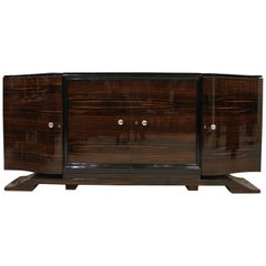 Art Deco Macassar Ebony Credenza in the Manner of Emile Jacques Ruhlmann