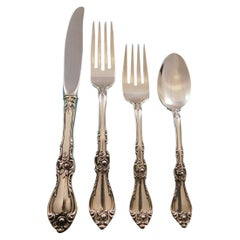 Royal Rose by Wallace Sterling Silver Flatware Set for 8 Service