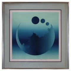 """""""Fusion"""" Moon Lithograph Signed Mark Rowland"""