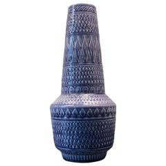Blue Rörstrand Vase, Sweden, 1960