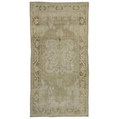 Vintage Turkish Oushak Rug with Mission Style and French Romanticism