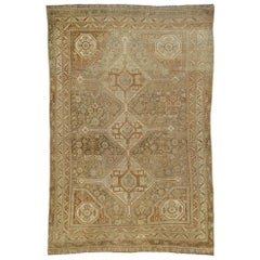 Distressed Antique Persian Shiraz Rug with American Craftsman Rustic Style
