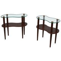 Gilbert Rohde Two-Tier Cloud End Tables