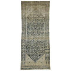 Antique Persian Malayer Runner, Wide Hallway Runner with Rustic Gustavian Style