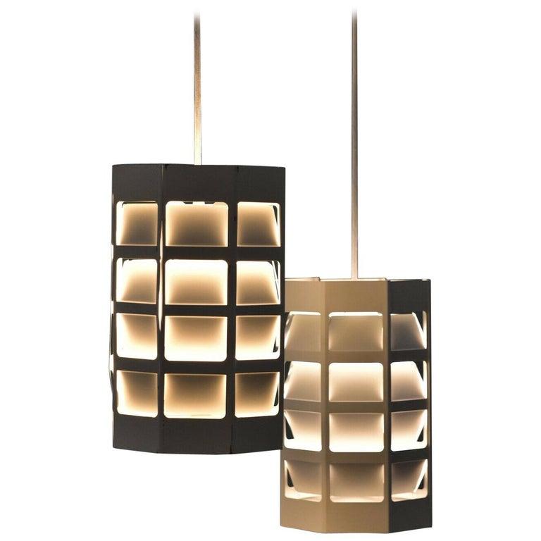 Poul Gernes Pendant Lamp Hedron Lyskurv Louis Poulsen Denmark For Sale