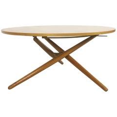 Movex Table, Ess.Tee.Tisch Cherrywood, Jürg Bally for Wohnhilfe Zürich, 1951
