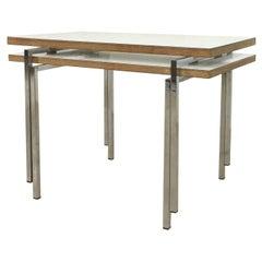 Set of Two Modernist Stacking Tables, Trix & Robert Haussmann, Switzerland, 1957