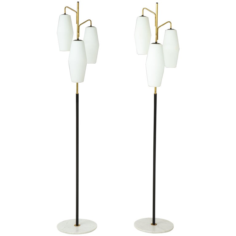Stiilnovo Pair of Floor Lamps Model 4052 For Sale