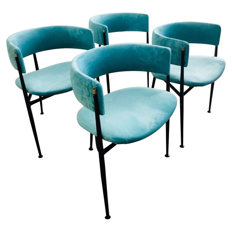 Amazing Midcentury 1950S Australian Atomic Age Set Of Four Dining Chairs Ncnpc Chair Design For Home Ncnpcorg