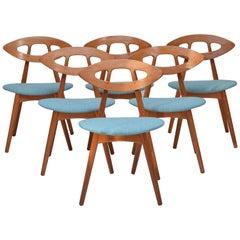 Ejvind A Johansson Eye Chairs, Set of Six, 1961
